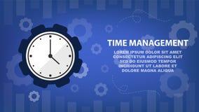 Gestión y horario de tiempo para el concepto del negocio ilustración del vector