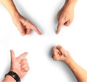 Gesti χεριών Στοκ Εικόνα