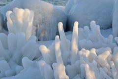 Gesti del ghiaccio Fotografia Stock