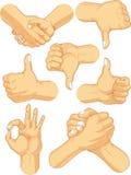 Gesti dell'attività di raccolta del segno della mano Fotografia Stock