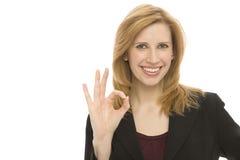 Gesti della donna di affari Immagini Stock Libere da Diritti