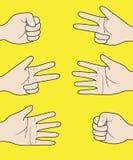 Gesti delle mani in un vettore Fotografie Stock Libere da Diritti