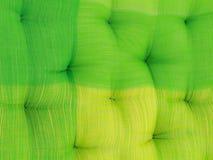 Gestickt auf einem Kissengewebehintergrund Stockbild