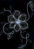 Gestickte Blume. Stockfotos