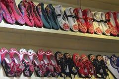 Gestickte Schuhe in China Lizenzfreies Stockbild