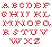 Gesticktes Alphabet Stockfoto