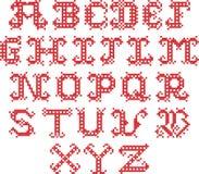 Gesticktes Alphabet Lizenzfreies Stockbild