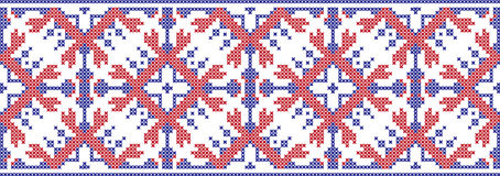 Gesticktes Muster auf transparentem Hintergrund Stockfotografie