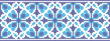 Gesticktes Muster auf transparentem Hintergrund Lizenzfreies Stockbild