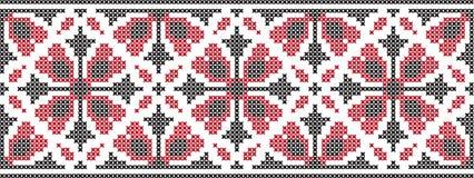 Gesticktes Muster auf transparentem Hintergrund Lizenzfreie Stockbilder