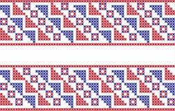 Gesticktes Muster auf transparentem Hintergrund Lizenzfreie Stockfotos