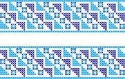 Gesticktes Muster auf transparentem Hintergrund Lizenzfreies Stockfoto