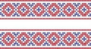 Gesticktes Muster auf transparentem Hintergrund Stockbilder