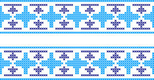 Gesticktes Muster auf transparentem Hintergrund Lizenzfreie Stockfotografie