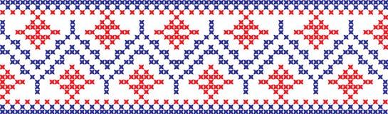Gesticktes Muster auf transparentem Hintergrund Stockbild