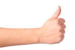 Gesticulando a APROVAÇÃO da mão Fotografia de Stock Royalty Free