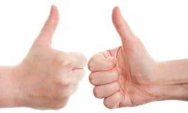 Gesticulando as mãos Fotografia de Stock Royalty Free