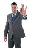 Gesticular corporativo considerável do homem excelente Imagem de Stock Royalty Free
