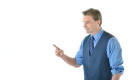 Gesticular do homem de negócio Imagens de Stock Royalty Free