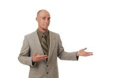 Gesticular do homem de negócios foto de stock royalty free