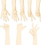 Gesticular las manos ilustración del vector