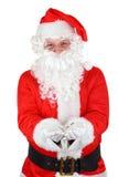 Gesticular santamente de Papai Noel Fotografia de Stock