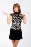 gesticulating женщина рук Стоковые Фотографии RF