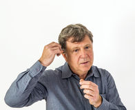 Gesticulating Man Stock Photography
