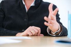 Gesticulating on meeting stock images
