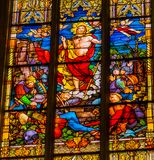 Gestiegene Jesus Stained Glass All Saints-Kirche Schlosskirche Witten lizenzfreie stockbilder