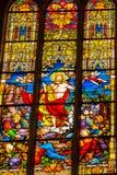 Gestiegene Jesus Stained Glass All Saints-Kirche Schlosskirche Witten Lizenzfreies Stockbild