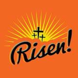 Gestiegener Christian Easter Text Illustration Lizenzfreie Stockfotos