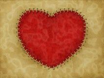 Gestikt hart Stock Afbeelding