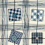 Gestikt patroon met knopen vector illustratie