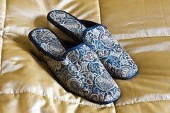 Gestikte pantoffels Stock Afbeeldingen