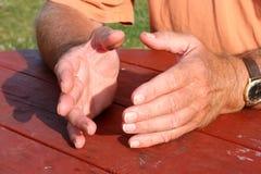 Gestikulieren der Hände Stockbild