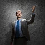 Gestikulieren des Geschäftsmannes Lizenzfreie Stockfotos