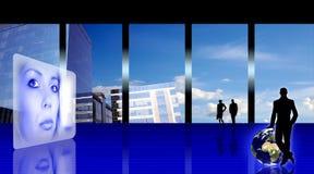 Gestileerd bedrijfsbureau stock illustratie