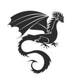Gestileerd beeld van Draak stock illustratie