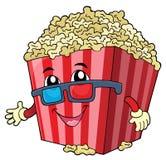 Gestileerd beeld 1 van het popcornthema Stock Afbeeldingen