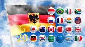 Gestileerd beeld van landen G 20 Royalty-vrije Stock Foto's