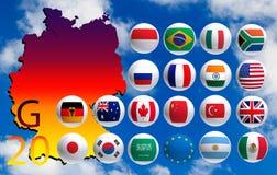 Gestileerd beeld van landen G 20 Royalty-vrije Stock Afbeelding