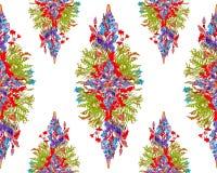 Gestileerd bloemenboeketpatroon Stock Foto's