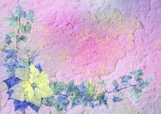 Gestileerd bloemenframe met patina royalty-vrije stock afbeelding
