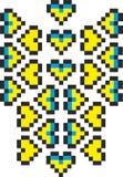 Gestileerd embleem van de Oekraïne vector illustratie