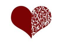 Gestileerd hart Stock Afbeelding