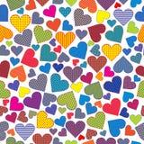 Gestileerd harten naadloos patroon als achtergrond royalty-vrije illustratie