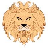 Gestileerd Lion Head Royalty-vrije Stock Fotografie