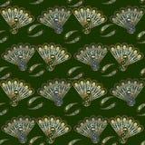 Gestileerd pauwen naadloos patroon Royalty-vrije Stock Fotografie