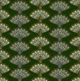 Gestileerd pauwen naadloos vectorpatroon Stock Foto